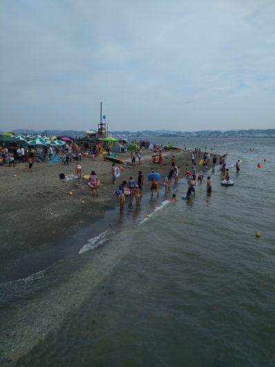 海の日の猿島ビーチ