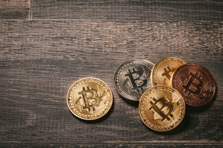 何枚かのビットコイン