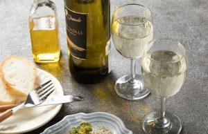 白ワインとパン