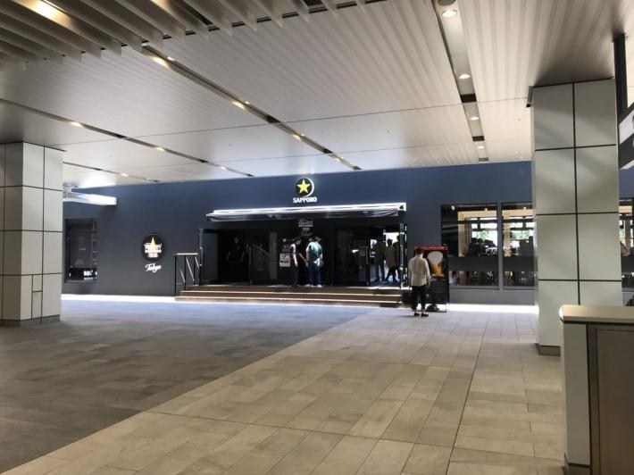 JR新宿駅 新南口改札の真向かいのPerfect Beer Garden