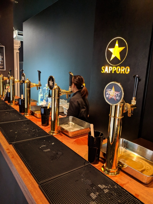 Perfect Beer Garden新宿のビールサーバー