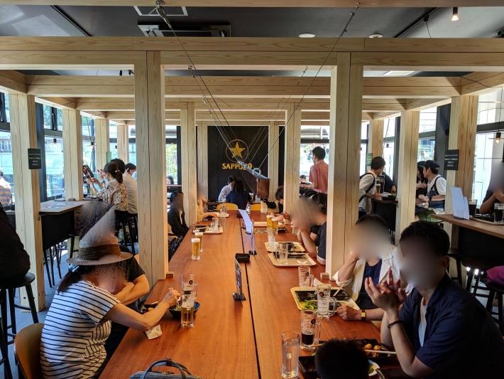 Perfect Beer Garden新宿の店内