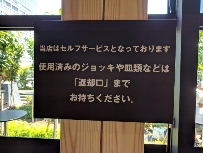 Perfect Beer Garden新宿はセルフサービスです。
