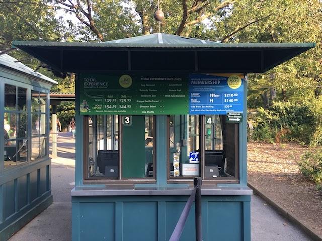 Bronx Zooのチケットブース