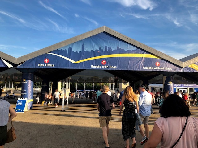US Openテニスの会場入口