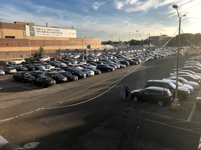 US Openテニス会場の駐車場Lot H