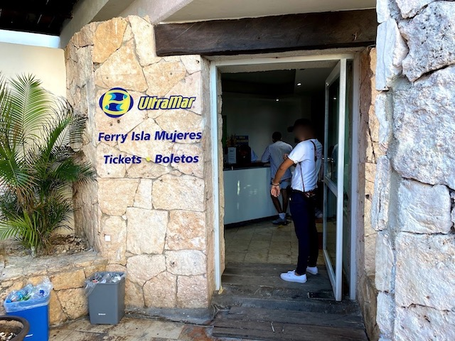 Playa Caracolのフェリーのチケットオフィス