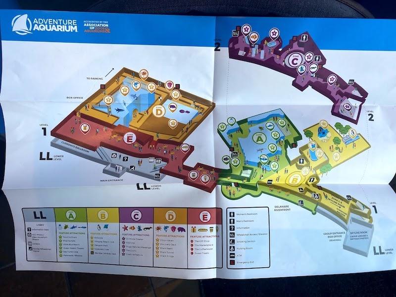 Adventure Aquariumの館内マップ