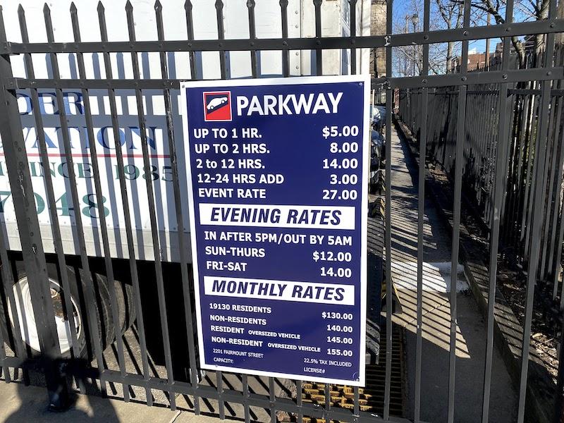 イースタン刑務所の駐車料金