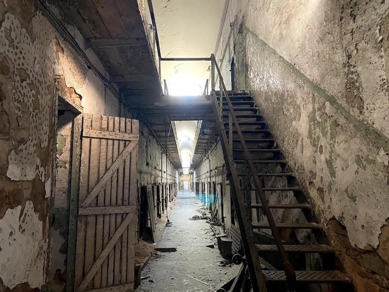 イースタン刑務所の2階建ての牢屋